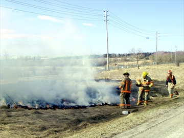 Grass fire Season