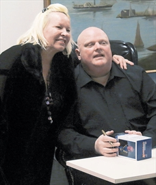 Rob Ford at a bobblehead signing event
