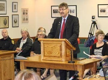 Happy Meaford council greets Warden Kevin Eccles