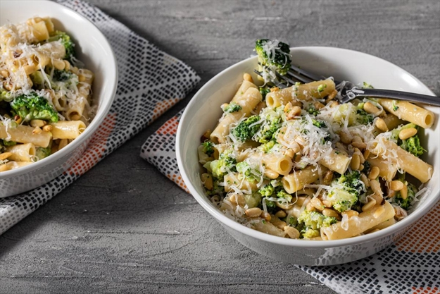 Indulge yourself with this long-cooked broccoli and pasta