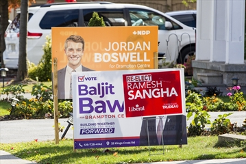 Election lawn signs are not collected curbside in The Region of Peel.