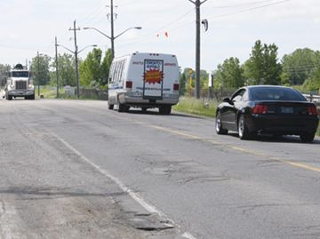 Stanley Avenue has once again been voted one of the top 10 worst roads in Ontario.File photo