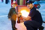 Learning about fire safety in Bradford