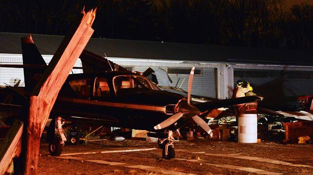 Serious damage to Burlington Airpark