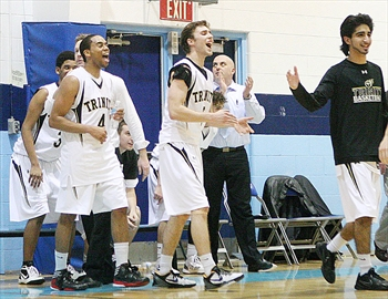Holy Trinity beat  Loyola in  Halton high school senior  boys basketball final at Sheridan College.