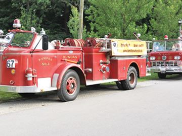 Historic Dundas fire trucks
