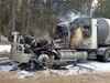Milk truck fire
