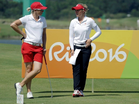 Hamilton golfer Alena Sharp took Brooke Henderson under her wing