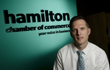 Keanin Loomis, President of Hamilton Chamber of Commerce photo