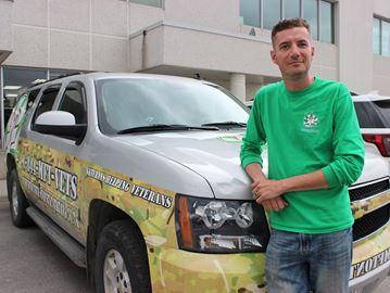 Mike Collins, IC of the new Marijuana for Trauma Kingston