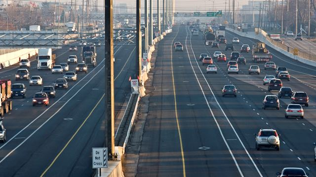 Toll lanes opening