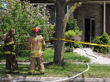 Man sent to hospital after Monday fire
