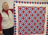 Barb Johnston and the first quilt she aims to finish this year.