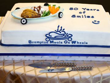 Brampton Meals On Wheels (MOW) celebrated its 50th anniversary with this stunning lemon cake. At the luncheon gala, the organization recognized the hard work and dedication of its fleet of 60 volunteers.