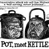 Today's cartoon: Pot calling kettle black