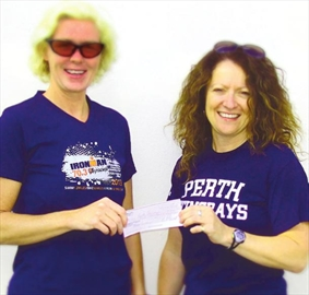 Rebekah Nitschmann Perth Tri donates to Stingrays– Image 1