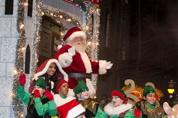Santa Claus greets his many fans at the Brampton Board of Trade's annual Santa Claus Parade in downtown Brampton on Saturday night. Organizers estimated the crowd at 179,000, up from the 160,000 that saw the parade a couple of years ago.