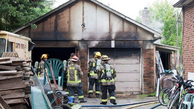 Milton garage fire