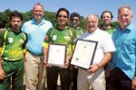 Cricket club christens new natural turf pitches