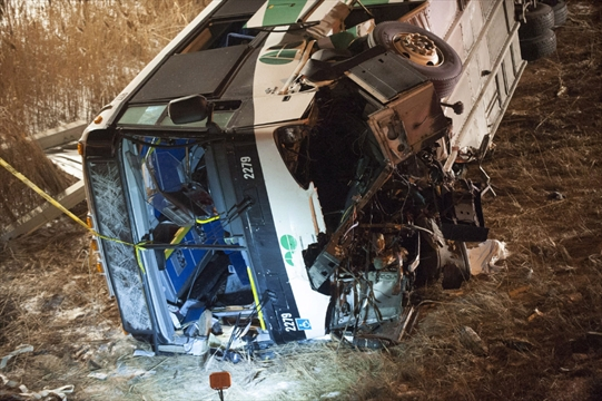Woman killed in Hamilton -to-Toronto GO bus rollover | TheRecord com