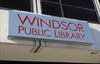 Windsor Public Library sign