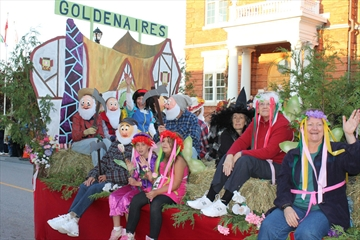 The Goldenaires had a float in the parade.