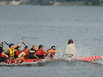 Dragon Boats hit the water in Barrie for annual fest