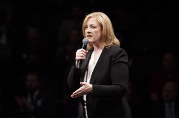 Lisa Raitt speaks during the Conservative leadership debate in Edmonton, Alta., on Tuesday, Feb. 28, 2017. Raitt is demanding cheaters be booted from the party's leadership race as questions continue to swirl around bogus membership sales.THE CANADIAN PRESS/Codie McLachlan