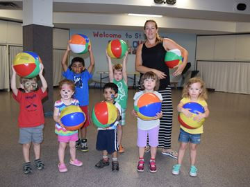 Summer campers enjoy 'beach'