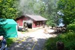 Fire in Lake of Bays