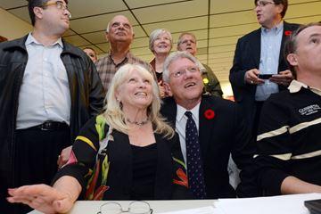 Smiling mayor