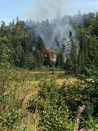 Farmhouse on fire