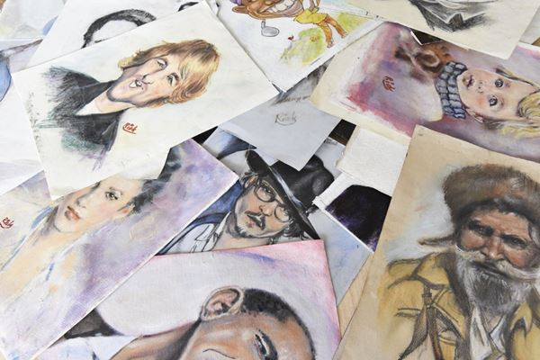 The many faces Richard Bell has painted. | John Rennison, The Hamilton Spectator