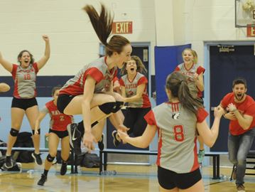 Huskies rally to take junior AAA volleyball title