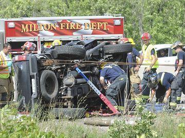 Hwy.401 crash in Milton