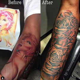 Nicki Minaj's ex covers up tattoo of her face-Image1