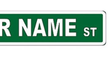 A limited number of residential street names can be auctioned off at charity events.