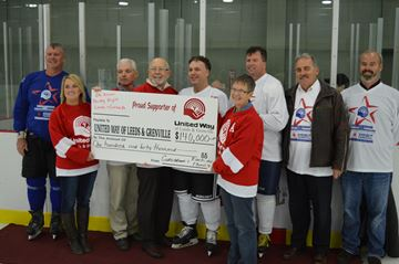 Hockey Night in Leeds Grenville raises record amount for United Way