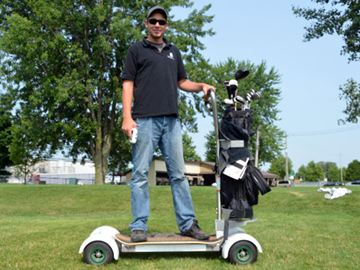 Course cruising with new way to get around greens