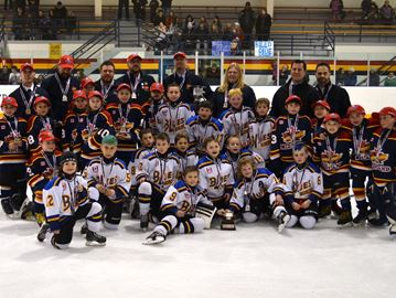 Midland Centennials share championship spotlight after OMHA Novice BB-B East finals