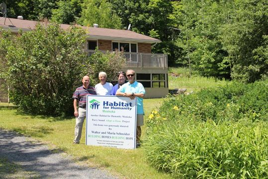 Seguin cottager donates fully furnished home to habitat for Habitat for humanity houses for rent