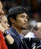 Mayweather and Pacquiao exchange phone numbers at Heat game-Image1