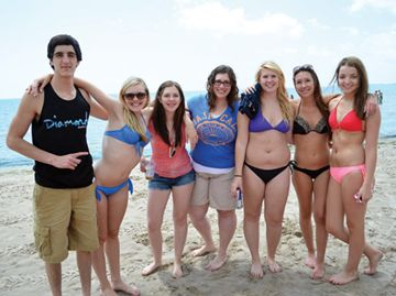 Lakeshore Catholic High School students came out to Long Beach in Wainfleet on Friday to soak up some sun and do a bit of swimming as part of Beach Day. The event was one of the quietest in recent years, as only around 50 students came out to Long Beach