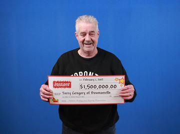 Bowmanville resident Terry Gregory recently won $1.5 million