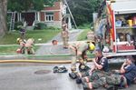 Orillia firefighters battle fire at Matchedash Street house