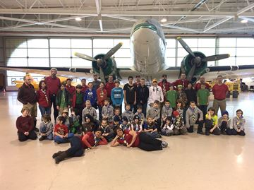Everett Scouting group visits Hamilton warplane museum