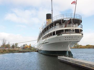 Moving day for SS Keewatin in Port McNicoll