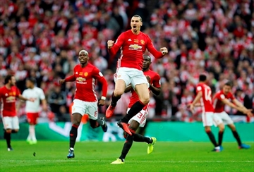 Zlatan Ibrahimovic's double wins League Cup for Man United-Image3