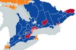 Ontario election map of candidates by riding