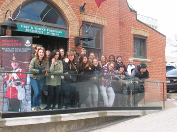 Eastview history students visit Grey and Simcoe Forresters Regimental museum in Barrie